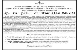 klepsydra ks. prałat Stanisław Zarych